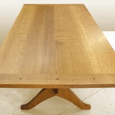 Breadboard ends dining table